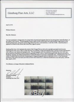 1960 John Lennon Contact Sheet Photo Astrid Kirchherr Beatle Achives