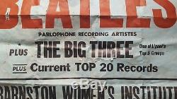 1962 THE BEATLES original concert poster (Heswall Jazz Club) John Lennon