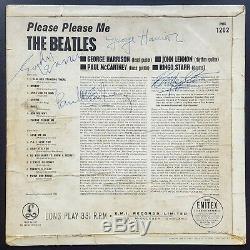 1963 THE BEATLES fully signed'Please Please Me' album LP John Lennon McCartney