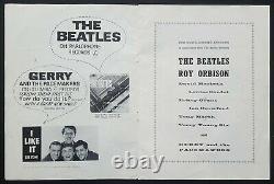 1963 THE BEATLES fully signed autographed programme Roy Orbison tour John Lennon