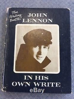 1964 JOHN LENNON IN HIS OWN WRITE Book Signed By All 4 BEATLES withSKETCH DRAWING