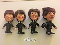 1964 Remco Beatles Set 4 Figures John Lennon Paul McCartney George Ringo Starr