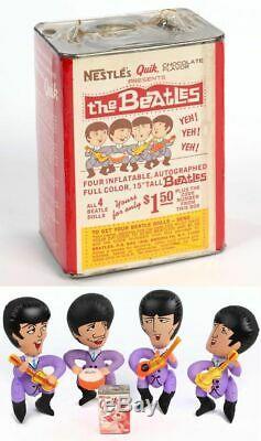 1966 LUX SOAP BEATLES JOHN LENNON BLOW UP INFLATABLE CARTOON DOLL Rare