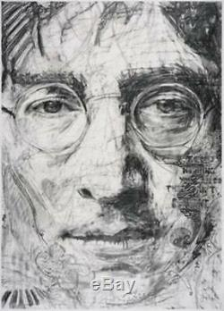 1967 JOHN LENNON collage by Drew Walker completed in San Francisco 1 of 1