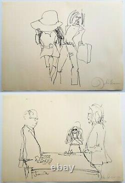 1970 JOHN LENNON complete set of Bag One prints by Laurens of Amsterdam Beatles
