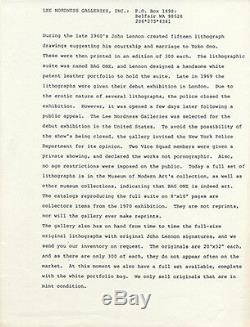1970 John Lennon Bag One Art Exhibition Catalog Lee Nordness Gallery Nyc