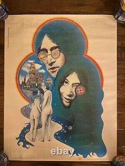 1971 Vintage Beatles JOHN LENNON & YOKO ONO Ann Neisel Poster, RARE