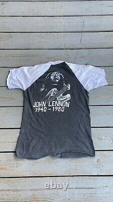 1980 The Beatles John Lennon Distressed Vintage Shirt Size L