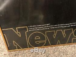 1981 Rare Vintage Newsweek Unpublished Issue John Lennon Of The Beatles Poster