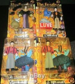 (4) Vintage Beatles Yellow Submarine Figures John Lennon Paul Mccartney Ringo