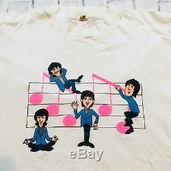 70s 80s VTG THE BEATLES T Shirt Rock Roll L SCREEN STARS John Lennon Caricature