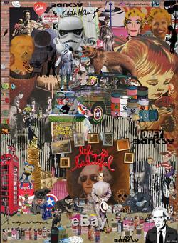 ANDY WARHOL LOST SERIES MR CLEVER ART John Lennon Beatles soup brainwash banksy