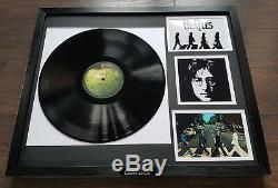 Abbey Road The Beatles Framed Vinyl Album John Lennon Paul McCartney Ringo