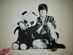 All You Need Is Love Mr Brainwash Signed Numbered John Lennon Screen Print Poste