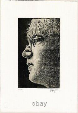 Andreas Noßmann John Lennon (Original Radierung)