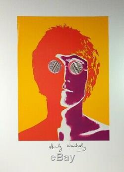Andy Warhol, Beatles John Lennon 1967, Hand Signed Lithograph