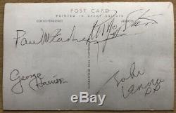 BEATLES Autographs John Lennon, Paul McCartney, George Harrison, Ringo Starr