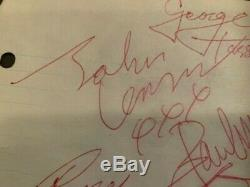 BEATLES JOHN LENNON PAUL MCCARTNEY Signed album page George Harrison Ringo Starr