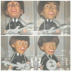 BEATLES Remco Dolls John Lennon Paul McCartney George Ringo WHITE Guitars RARE