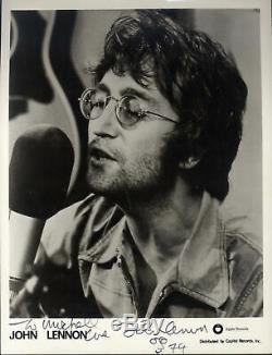 BEATLES SINGER John Lennon autograph, signed photo framed