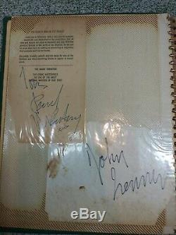 Beatles Autograph-John Lennon-Paul McCartney Fan Album Collection Storage Find