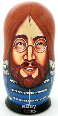 Beatles Babushka dolls John Lennon Paul McCartney George Harrison Ringo Starr 5