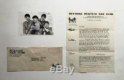 Beatles Fan Club John Lennon, Paul Mccartney, George Harrison, Ringo Signed Lot