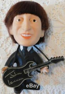Beatles JOHN LENNON 1964 Remco Soft Body Doll with Box and Gold Medal Case