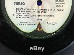 Beatles John Lennon LIVE PEACE IN TORONTO Apple Capitol Logo Jax RARE STICKER