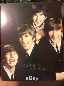 Beatles John Lennon, Paul McCartney, Ringo Star, George Harrison Authentic Signed