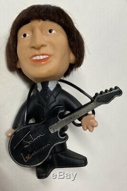 Beatles John Lennon Soft Body Remco Seltaeb Doll 1964 With Instrument Nice