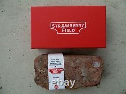 Beatles John Lennon Strawberry Field Authentic Full Size Brick with COA