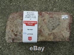 Beatles John Lennon Strawberry Field Salvation Army Children's Home Brick WithCOA