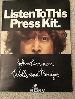 Beatles John Lennon Walls And Bridges Press Kit