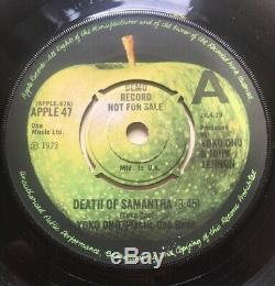 Beatles John Lennon Yoko Ono Death Of Samantha Demo Promo UK Apple 1973