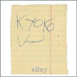 Beatles John Lennon, Yoko Ono and Kyoko Ono 1969 Scotland Autographs (UK)