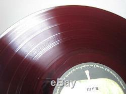 Beatles Let It Be Japan Original Red Wax Vinyl LP OBI John Lennon Paul McCartney