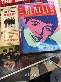 Beatles Lot Vinyl Books Articles Cards & More John Lennon