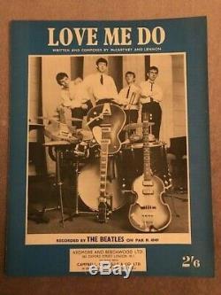 Beatles Original UK Sheet Music Love Me Do Paul McCartney John Lennon