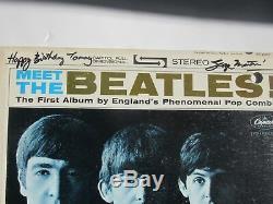 Beatles Signed Meet The Beatles Album By George Martin John Lennon Related