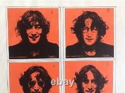 Beatles/john Lennon Original Bob Gruen Unused Art Work For Walls And Bridges