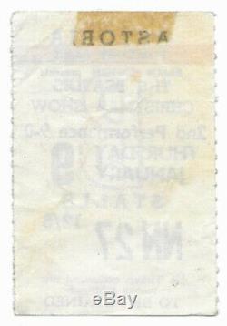 Beatles original concert ticket, London UK 1964, Tour John Lennon Paul McCartney