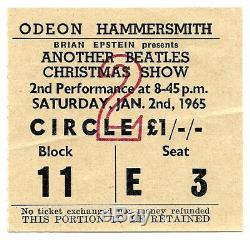 Beatles original concert ticket, London UK 1965 John Lennon Paul McCartney Tour
