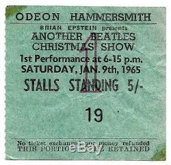 Beatles original concert ticket, London UK 1965 John Lennon Paul McCartney, Tour