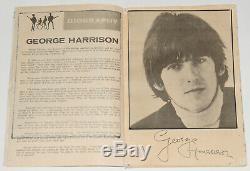 Beatles original rare vintage Concert Programme, Manila 1966, John Lennon Tour
