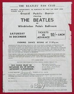 Beatles original vintage Concert Handbill / Flyer, London 1963, John Lennon Tour