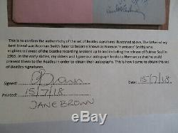 Beatles signed (PSA/DNA) Paul McCartney John Lennon George Harrison Ringo Starr