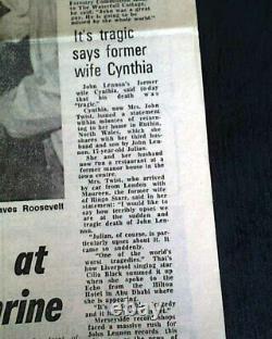 Best JOHN LENNON The Beatles Music Legend DEATH 1980 Liverpool England Newspaper