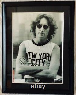 Bob Guren Photo Print of John Lennon NYC 1974 with Copyright