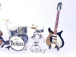 Complete set Miniature Drum JOHN LENNON RINGO STARR LUDWIG BEATLES. Mini Art